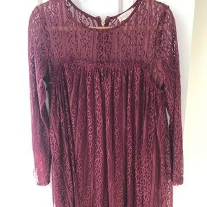 Altar'd State Long Sleeve Lace Dress